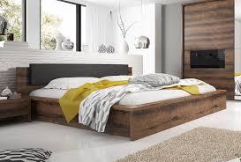 bett 160x200cm monastery eiche schwarz schlafzimmer modern holzbett