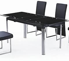 glastisch schwarz mit verlängerung ausziehbar carbon