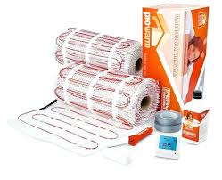 heat mat for tile floor buy a mat thermostat as part of a kit and