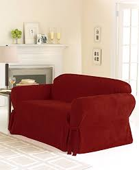 amazon com sure fit soft suede 1 piece sofa slipcover