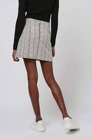 triangle jacquard a line skirt topshop