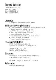 Sample Resume Of Student A For College Example Students