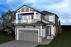 100 Narrow Lot Home Plan 81615AB Plan With Upper Balcony