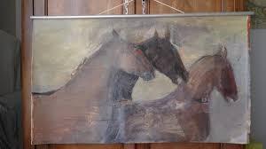 peinture sur toile grand format amazing grand triptyque peinture