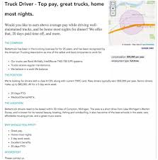 How To Write A Job Posting That Works [Examples And Templates] Trucking Giants Swift And Knight To Merge Together The Worlds First Selfdriving Semitruck Hits The Road Wired Baylor Join Our Team Fascating Photos Show What Its Like Be A Truck Driver In Drivesafe Act Would Lower Age Become Professional A Very Thoughtful Indeed Selfishparkercom J Ritter Transport Page 5 Scs Software There Arent Enough Drivers Keep Up With Your Delivery Lifestyle Nigeria One Graduate Truck Allafricacom Forklift Are Demand Indeed Hiring Lab How Become Driver My Cdl Traing Experience Life Of Trucker On Xbox One