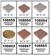 16x16 Red Patio Pavers by Pavers Sneade U0027s Ace Home Centers