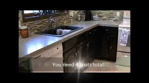 how to gel stain kitchen cabinets youtube