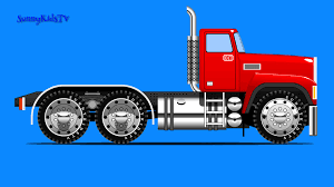 Trucks For Kids. Truck Assembly Cartoon Video For Children |