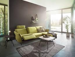 wohnlandschaft gelbgrün armlehnen verstellbar wohnzimmer
