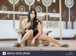 Young Woman Drunk Sitting On Old Rotten Derelict Armchair Slum ... Young Beautiful Woman Reading A Book In White Armchair Stock 1960s Woman Plopped Down In Armchair With Shoes Kicked Off Tired Woman In Armchair Photo Getty Images With Fashion Hairstyle And Red Sensual Smoking Black Image Bigstock Beautiful Business Sitting On 5265941 And Antique Picture 70th Birthday Cake Close Up Of Topp Flickr Using Laptop Royalty Free Pablo Picasso La Femme Au Fauteuil No 2 Nude Red 1932 Tate Sexy Sits 52786312