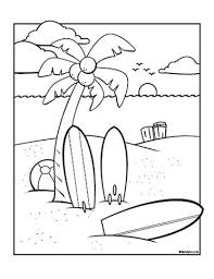 Summer Coloring Pages Surfs Up