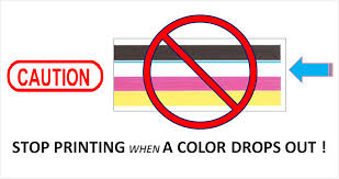 Stop Printing When A Color Drops Out