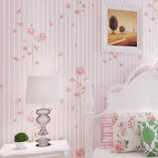 Pink Flower Wallpaper For Bedrooms Floral Walls Purple Wallpapers Bedroom Wall Paper Stripes Wedding Decoration Non