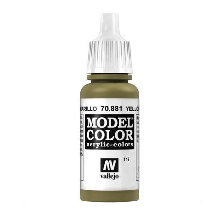 Vallejo Model Color Acrylic Paint - 17ml, Yellow Green