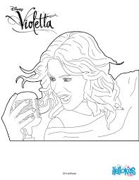 Violetta Singing Coloring Page
