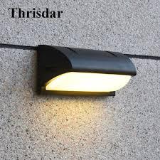 thrisdar 10w waterproof led wall ls outdoor aluminum garden