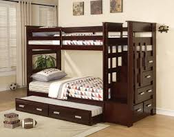 twin over queen bunk bed with trundle use for a minimalist bedroom