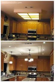 updating fluorescent lighting kitchen decor