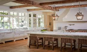 country kitchen cabinets l shape island lighting design