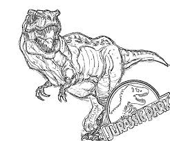 Printable Jurassic Park Coloring Page Crazy Pages