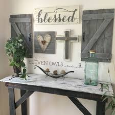RUSTIC BLESSED SIGN Farmhouse Signs Wood Blessed Sign Distressed Rustic Christian Wall ArtChristian