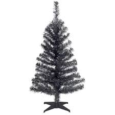 National Tree Company 3 Ft Black Tinsel Artificial Christmas