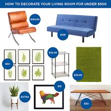 Living Room Furniture Under 500 by How To Decorate Your Living Room For Under 500