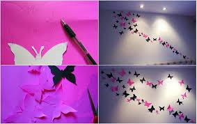VIEW IN GALLERY Paper Butterflies Wall Art