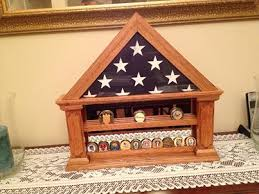 Coin Holder Flag Display With Mirrored Back