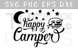 Happy Camper SVG PNG EPS DXF Example Image