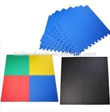 Exercise Floor by Interlocking Foam Floor Tiles