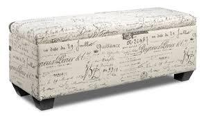 French Script Chair Canada by Boardwalk Large Storage Ottoman Scroll White Leon U0027s