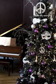 If You Truly Want To Make Your Black Christmas Tree Stand Out Use Bold And Distinctive Ornaments Like The One Featured Here