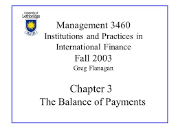 Chapter 3 The Balance of Payments Management 3460 Institutions and