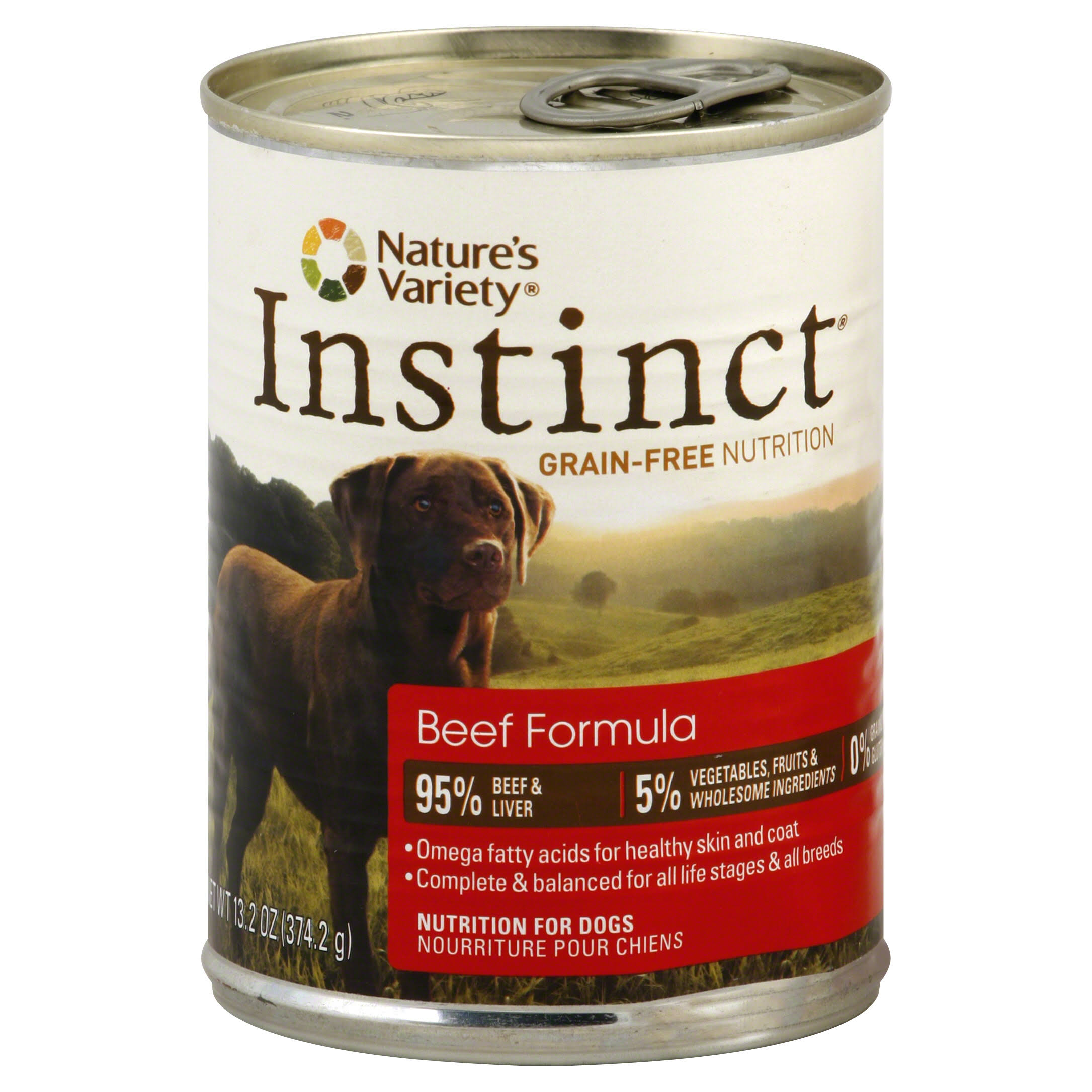 Nature's Variety Instinct Canned Dog Food - Beef, 13.2oz
