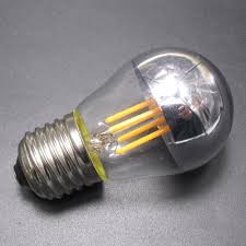 golf g45 silver crown bowl cap tipped led filament bulb 4w