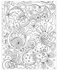 Complex Coloring Pages Free Printable Abstract For Kids