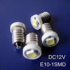 high quality 12v led e10 bulb led signal light e10 12vdc led pilot