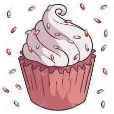 Illustration Of Fairy Cake Cupcake With White Butter Cream Stock Vector