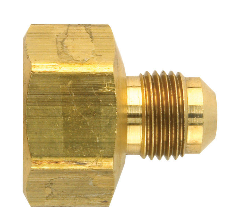 "Jmf 41179 Flare Adapter - 3/8"" x 3/4"", Yellow Brass"