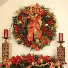 large christmas wreath and centerpiece set floral home decor