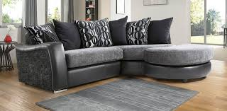 Living Room Ideas Corner Sofa by Leather Fabric Small Corner Sofa Shown With Optional Footstool