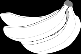 Banana clipart black and white banana clip art black and