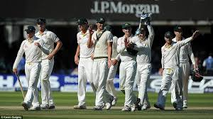 The Australians Celebrate As They Head Off Pitch At Lords Having Won Second Test