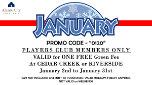 Current Promotions & Newsletter Sign Up - Alamo City Golf Trail