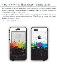 Here is why you should a phone case
