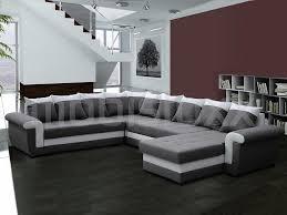 canapé d angle commandeur canapé d angle panoramique convertible yankee gris blanc chez