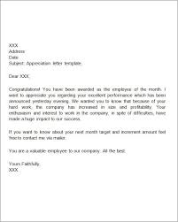 Examples of letters appreciation letter sample worthy template
