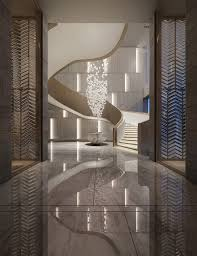 104 Vertical Lines In Interior Design Oriental Spiration With And A Graceful Arc Of The Spiral Staircase To Show The Simplici Luxury Terior Lobby Terior Projects
