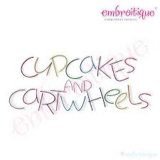 Embroitique Cupcakes And Cartwheels Monogram Font Set
